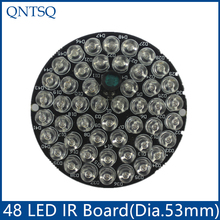 CCTV Accessories infrared light 48 Grain 850nm IR LED board for Surveillance cameras night vision diameter 53mm CY48F5-90A