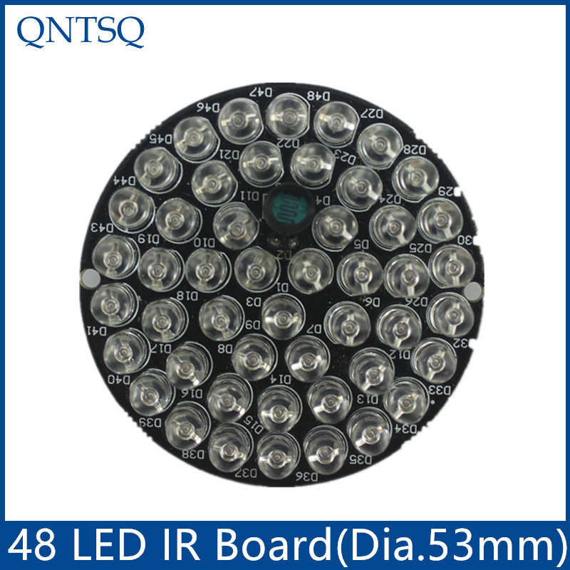 цена на CCTV Accessories infrared light 48 Grain 850nm IR LED board for Surveillance cameras night vision diameter 53mm CY48F5-90A