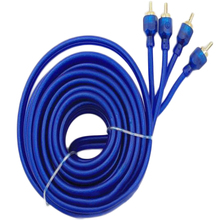 Podwójnie ekranowany czysta miedź Car Audio Audio kabel niebieski 5 metrów Audio Wzmacniacz subwoofera połączenia o wysokiej gęstości ekranowanie tanie tanio PolarLander Linia róg