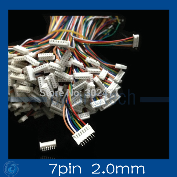 Mini. Micro  2.0 T-1 7-Pin Connector W/.Wire X 10 Sets.7pin 2.0mm