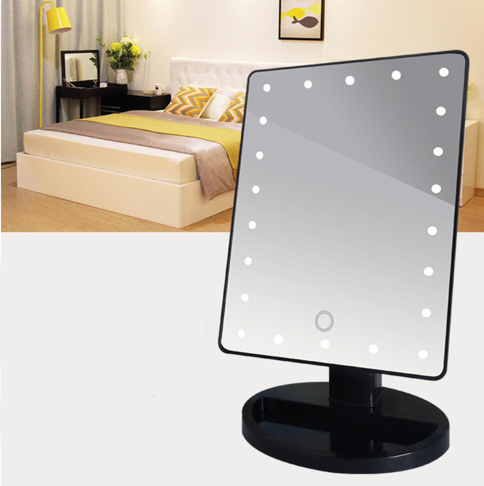 22led Light Beauty Makeup Mirror Rotatable 10x Magnifying
