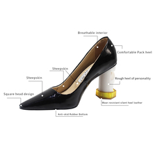 2019 HOT Women Shoes Pointed Toe Pumps Patent Leather Dress High Heels Boat Shoes Wedding Shoes Zapatos Mujer Black Shoes Woman цена