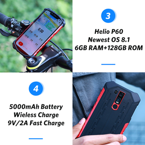 Image 4 - Ulefone Armor 6 IP68 Waterproof Mobile Phone Android 8.1 Helio P60 Octa Core 6GB 128GB Face ID NFC IP69K Rugged Smartphone