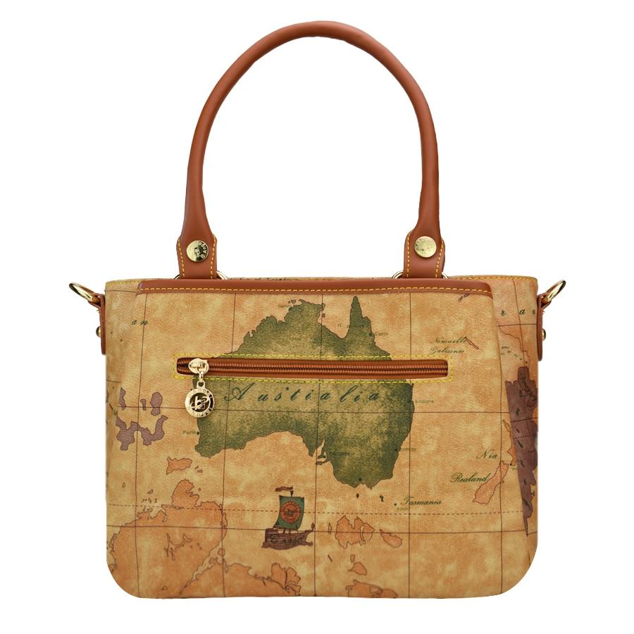 Haute qualité carte du monde femmes sac mode femmes messenger sacs spécial sac à main marque designer sac à bandoulière rétro sacs d'école - 3