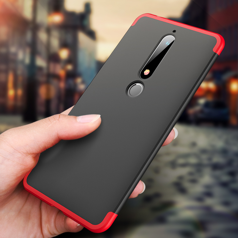 360 Degree Full Cover Case For Nokia 6 2018 TA 1054 Case With Tempered Glass Luxury Plastic Case For 2018 Nokia 6 Nokia6 Cover in Fitted Cases from Cellphones Telecommunications