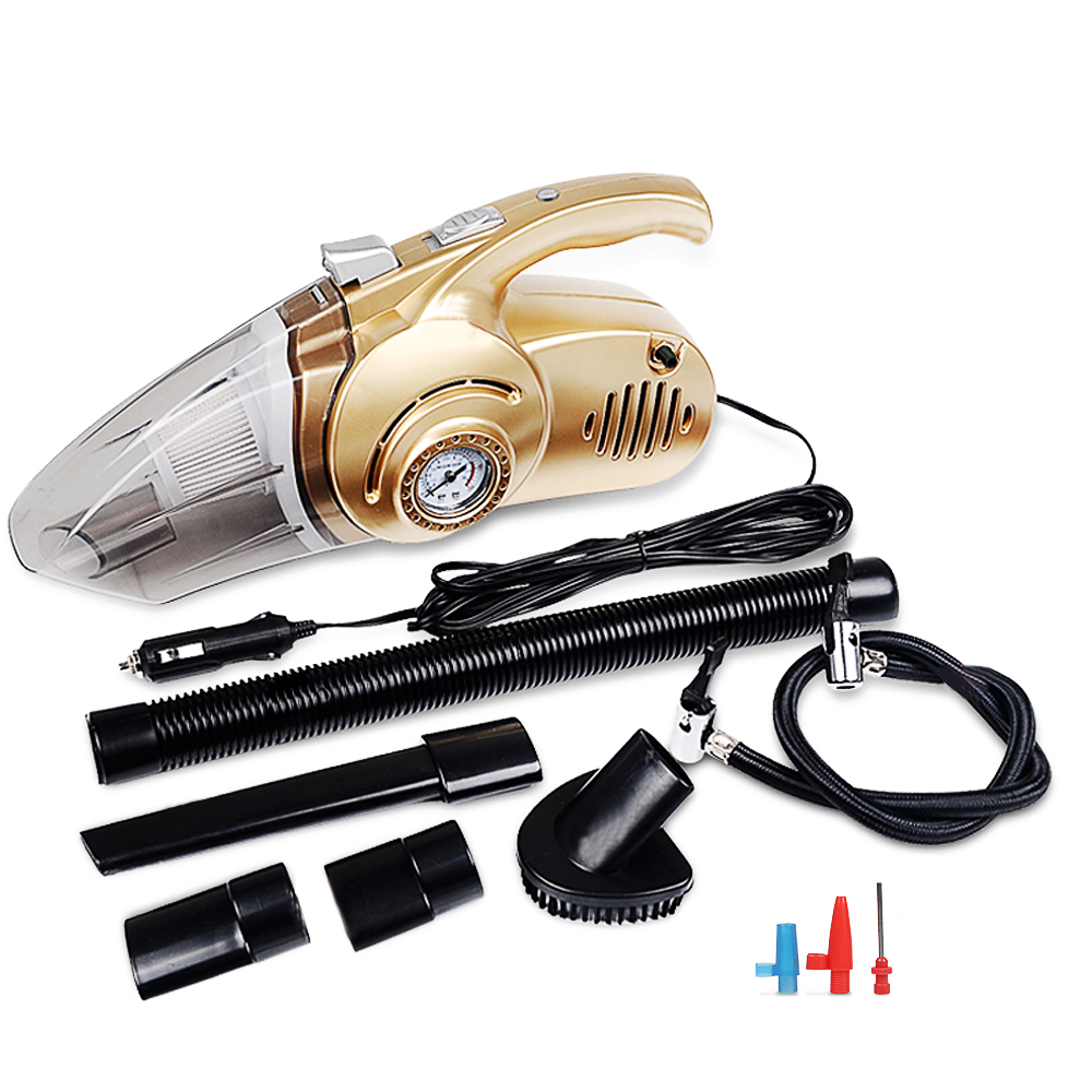4 in 1 Multi function 120W Wet And Dry Dual Use Car Vacuum Cleaner Tire Inflator