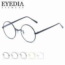 3b60de1e84 Unisex aleación redonda de la vendimia Gafas de Metal gafas de marco  Circular Retro ordenador gafas ópticas L2805CJ