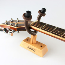 Wall Mount Guitar Hanger Flanger FH-02 Guitar Solid Wood Base Hook Guitar String Instrument Guitar Holder Keeper free shipping
