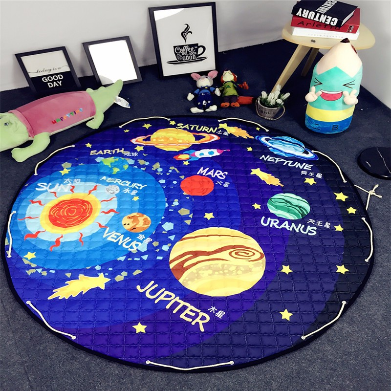 1.5m Baby Crawling Mat Floor Padded Floor Mats Gym For Kids Baby Gym Mat Children Developing Carpet For Toy Pouch Bag baby play mats 2 cm thick kids rug developing mat for children carpet for children rugs baby mats toy for baby gym game eva foam