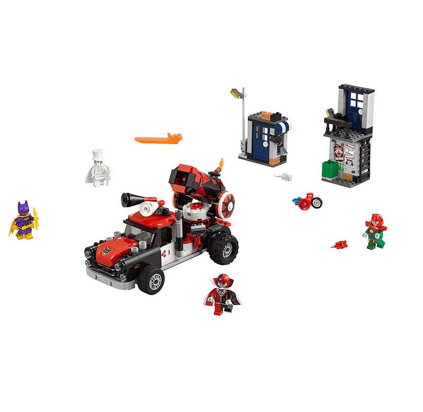07097 476pcs Batman Harley Quinn Cannonball Attack Building Bricks DIY Education Blocks Compatible Legoingly 70921 ...