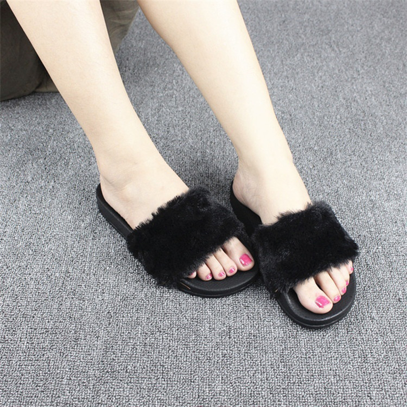 Women's Slippers Summer Beach Shoes Woman Slippers Slides Fashion Flats Ladies Slipper Bohemia Feather Sandals Brand Women Shoes new 2018 shoes woman sandals wedges lovely jelly shoes solid casual slippers summer style fashion slides flats free shipping