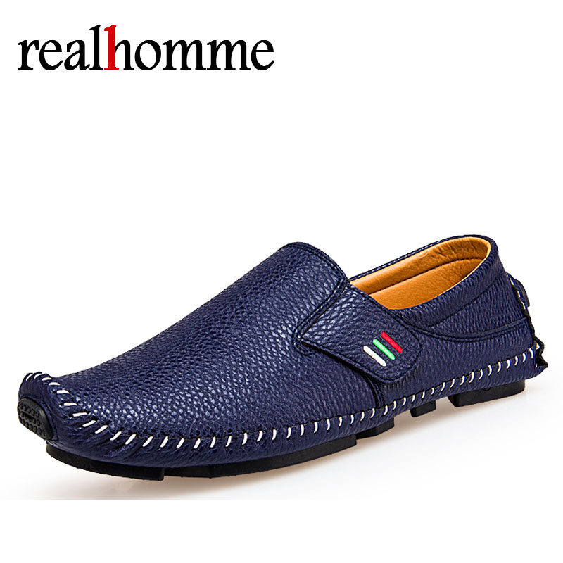 RealHomme Hot Selling Fashion Mens Shoes Slip On Hot Men Loafers Casual Shoes Driving Comfortable Soft Men's Loafer Flats Shoes genuine leather men shoes casual loafers slip on mens driving shoes flats moccasins comfortable leisure male hot fashion
