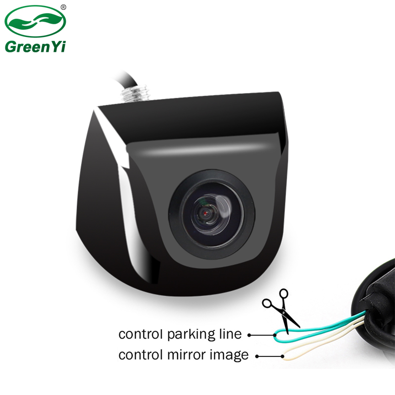 Câmera de estacionamento de rotação, hd 3, vidro frontal, câmera de visão traseira para lcd tft, monitor de estacionamento, pode mudar de estacionamento linha de linha