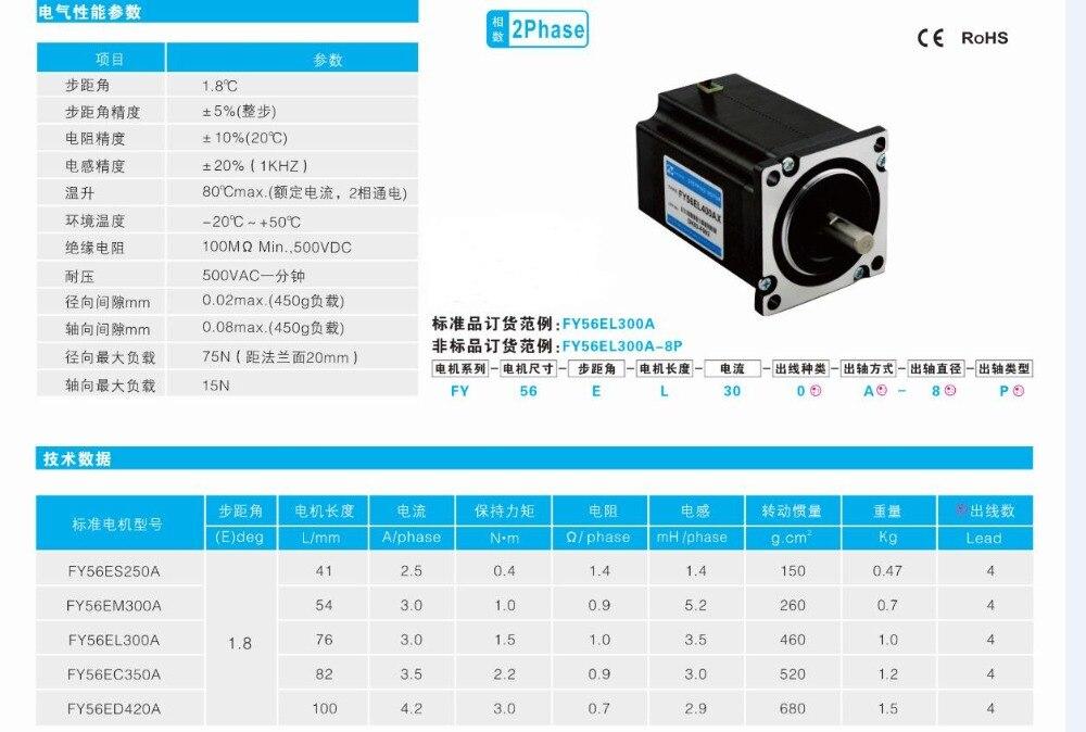 Nema23 stepper motor / 100mm 4.2A 425oz/in 2 phase 4-wire hybrid(Shaft Diameter 8mm) 76zy01 mig motor wire feed motor wire feeder motor dc24 1 8 18m min 1pk