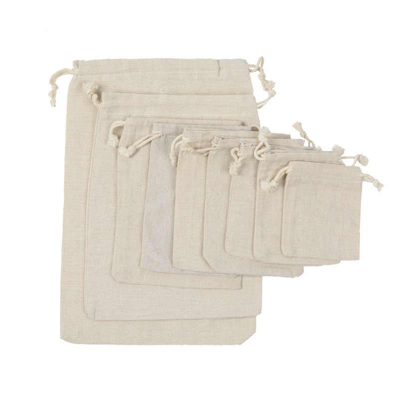 Jednolity kolor sznurek pakiet worek do przechowywania prezent biżuteria torba do przechowywania cukierków saszetka podróżna kosmetyczka na produkty do makijażu wodoodporne ubrania sortować