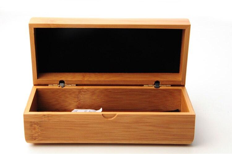 Envío gratis 10 unids/lote natural artesanal de madera de bambú caja sunglasses case case para gafas gafas accesorios gafas ( sólo la caja )