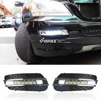 SHCHCG для автомобиля Mercedes Benz ML350 W164 ML280 ML300 ML320 2010 2011 Габаритные огни светодиодный сигнал спереди Противотуманные огни