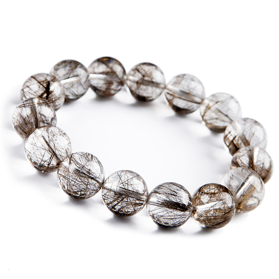 16mm Natural Silver Rutilated Quartz Crystal Round Big Beads Stretch Powerful Bracelet16mm Natural Silver Rutilated Quartz Crystal Round Big Beads Stretch Powerful Bracelet