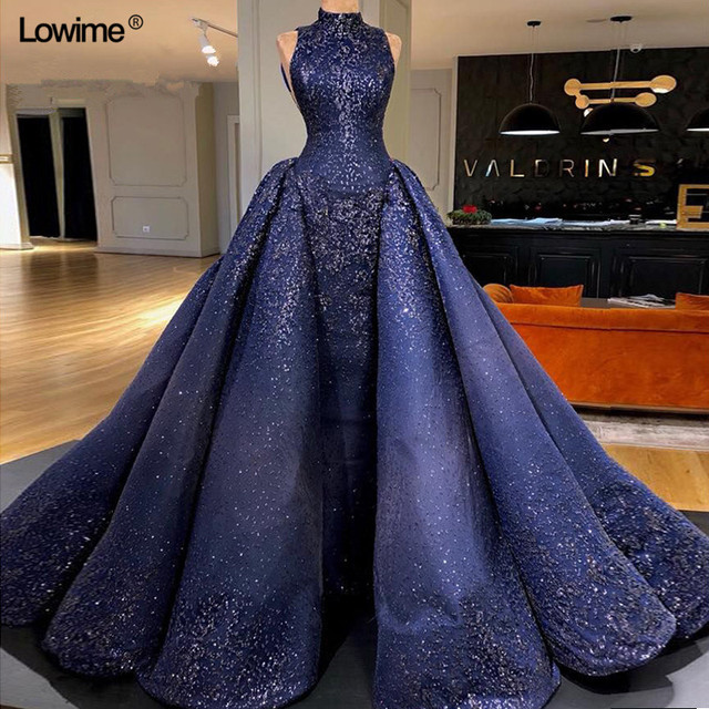 Sexy Elie Saab Long Arabic Royal Blue Mermaid Formal Evening Party Dress  Dubai Abiye Turkish Evening Gowns Dresses Abendkleider 8d4e07bd2edb