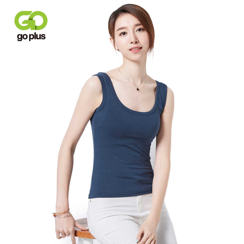ea95add41eecb1 GOPLUS Fashion Cotton White Tank Top Women Sexy Spring Sleeveless Basic  Vest Lady Casual Elastic Camisole