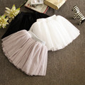 2016 New summer style lovely fluffy soft tulle girls tutu skirt pettiskirt 4 colors girls skirts for 2-7 years old