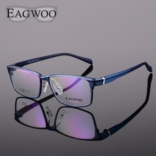 47ef49a9264 Full Rim Aluminium Magnesium Eyeglasses Optical Frame Reading Myopia Glasses  Men Prescription Eyewear Sports Big Spectacles