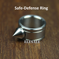 High Quality Stainless Steel Self Defense Ring For Women Men Safety Outdoor Survial Kit EDC Tool Glass Breaker