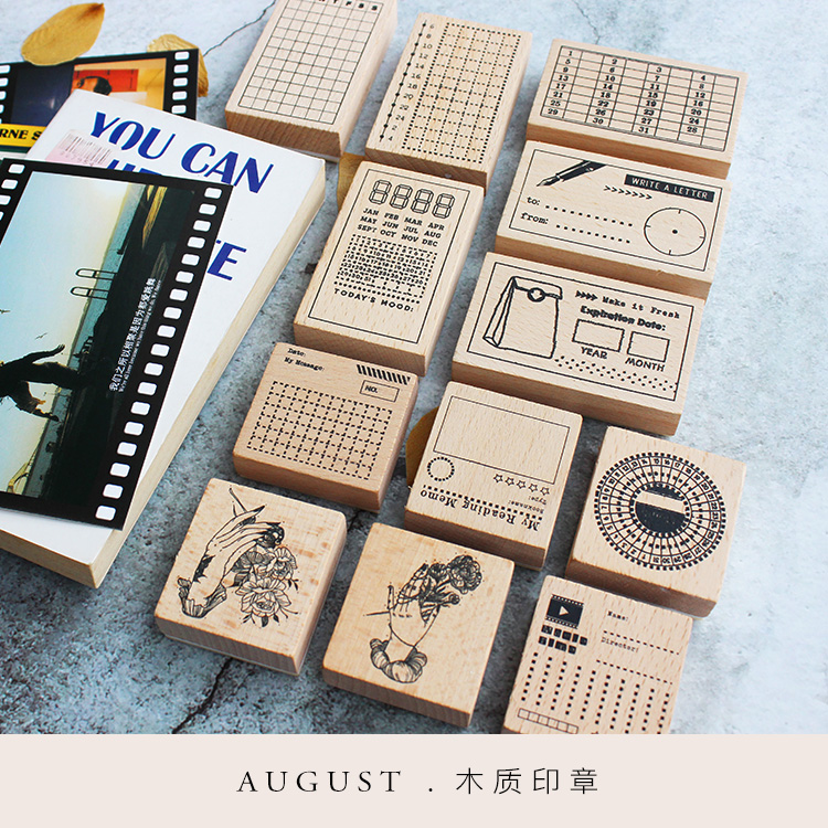 Moodtape Vintage Wood Clear Stamp For DIY Scrapbooking/photo Album Decorative Function Stamp Punch Plan Notes Rubber Stamp Seal