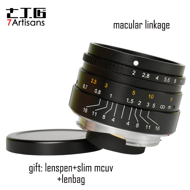 7artisans 35mm F2.0 lens Large Aperture M-mount Lens for Leica M cameras M240 M3 M5 M6 M7 M8 M9 M9P M10
