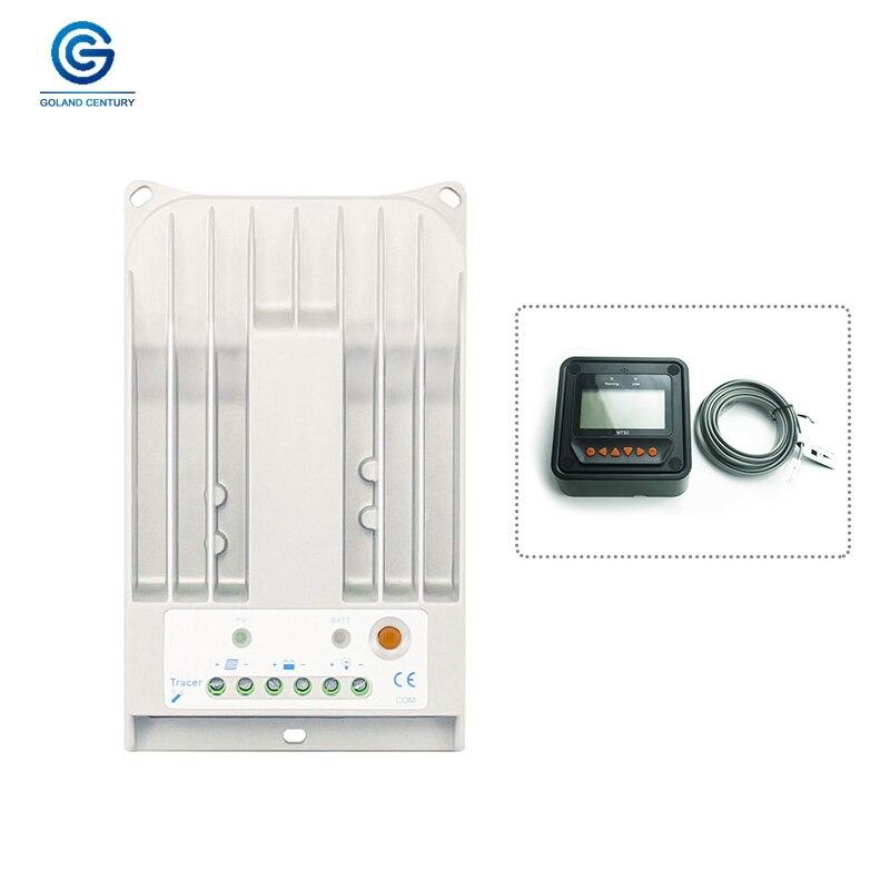 Traceur 1215BN 12 V 24 V 10 ampères chargeur solaire ControllerMPPT régulateur solaire avec adaptateur Bluetooth Wifi Box MT50 télécommande
