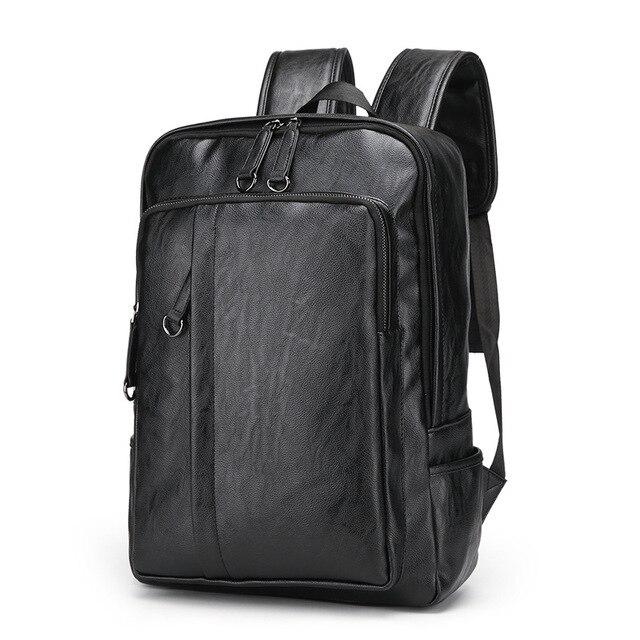 كمبيوتر محمول حقائب جلدية للرجال على ظهره 15.6 بوصة شنطة ظهر للكمبيوتر المحمول الذكور حقائب مقاوم للماء الأعمال السفر متعددة الوظائف على ظهره