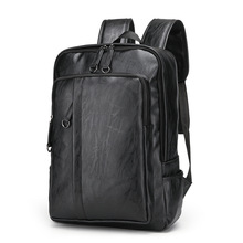 Laptop Backpacks Leather Mens Backpack 15.6inch Notebook Backpack Male Bags Waterproof Business Travel Multifunction Backpack