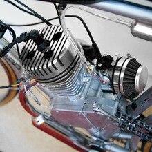 Новинка, 1 шт, серебряная гоночная CNC велосипедная головка цилиндра, замена, высокое качество, подходит для 66cc 80cc велосипед с двигателем на Газу круглый#292692