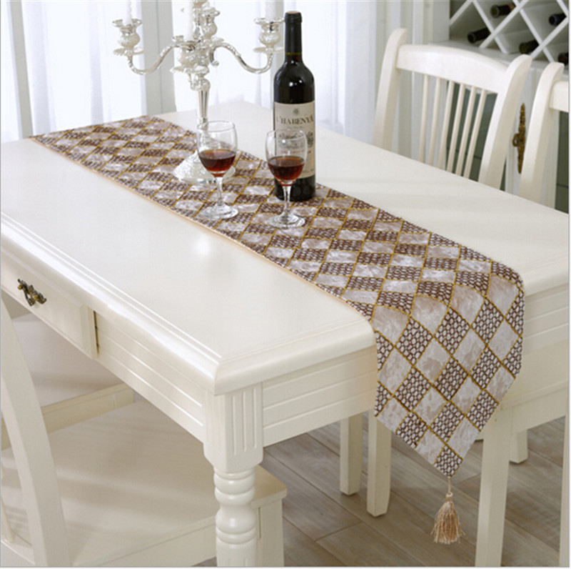 Buy Plaid Shape Embroidered Tv Table