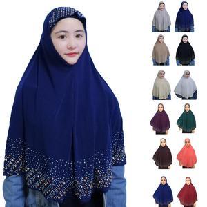Image 1 - Nieuwe Moslim Vrouwen Amira Gebed Hoed Hijab Sjaal Headwrap Overhead Cover Khimar Islamitische Hoofddoek Volledige Cover Hijab Arabische Sjaal Nieuwe
