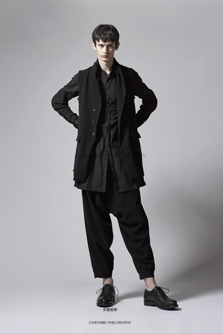 Noir Vêtements Mode Chanteur Costumes Styliste Casual Pantalon Rue Taille 44 2019 Nouveau Plus Harem Hip Classique Hommes Cheveux 27 Britannique Hop De 1I4qw