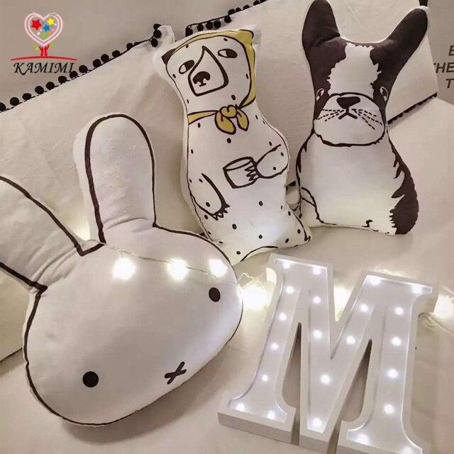 KAMIMI Baby Cartoon Dog Rabbit Bear Pillow Fashion Animal Style Kids Shipping Pillows for Infant Baby Boys Girls Pillow I112