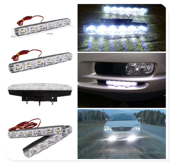 2pcs LED motorcycle car daytime running lights modeling anti-fog for BMW E46 E39 E38 E90 E60 E36 F30 F30 image