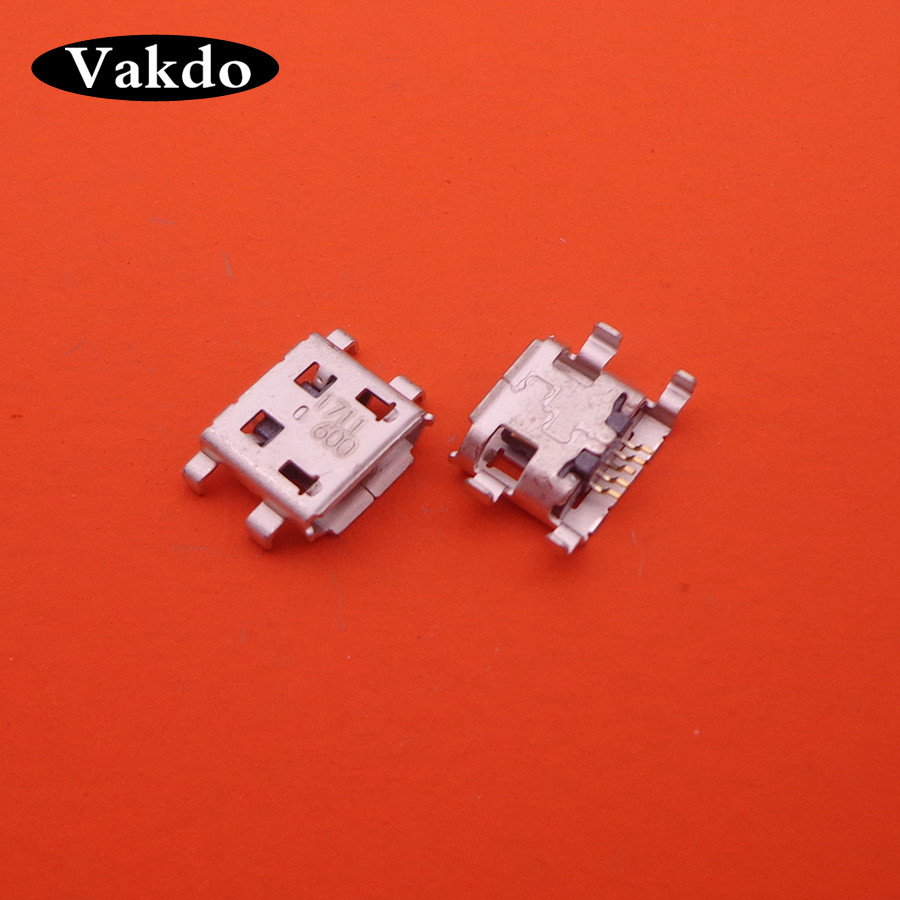 10-1000pcs/lot New Charging port MINI Micro USB Port Dock jack socket female Connector For Cricket ZTE Score X500 mobile Phone image