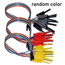 10 шт. высокая эффективность тесты крюк клип анализатора логики кабельный захват зонд тесты зажим комплект желтый/красный/черный/зеленый