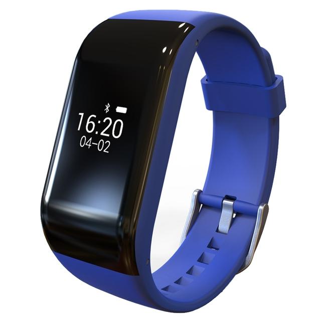 R1 Bluetooth Pulsera Inteligente Dinámica Pulsómetro Impermeable Deportes Banda de Pulsera Inteligente con función de Almacén de Datos para Android IOS