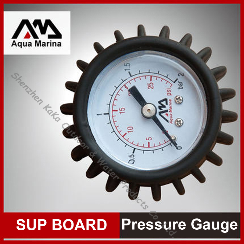 AQUA MARINA pressure gauge B0302217 test air pressure inflation of SUP stand up paddle board inflatable boat <font><b>fishing</b></font> boat kayak