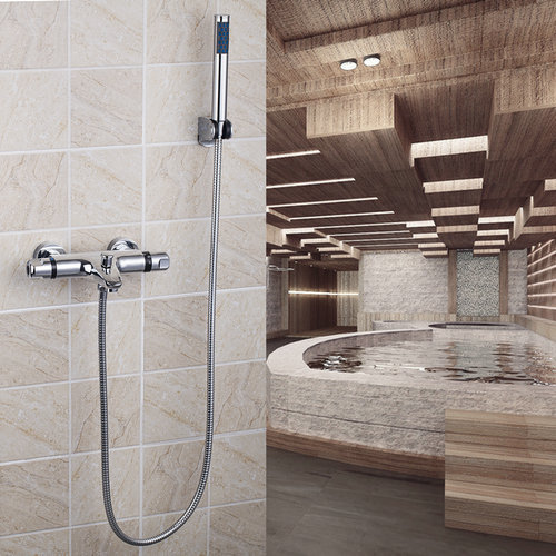 ФОТО Wall Mount Bathroom Thermostatic 8 inch Rainfall Shower Head +ABS Heldhead 53931 Bathtub Water Shower Set Tap Faucet Mixer Tap