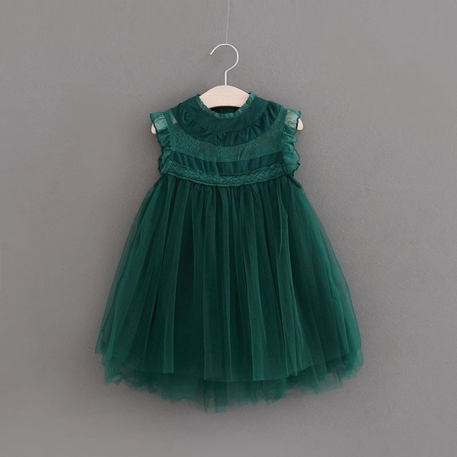 Girl Lace Tulle Dresses 2018 Summer Kids Dress European Style Girls  Costumes Cute Girls Party Dress Kids 2-6Y Wholesale f0af67d71839