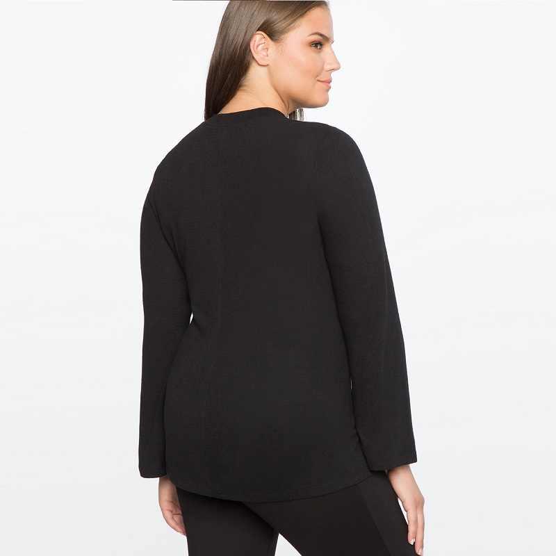 ac48b62cd1a ... 2017 Плюс Размер Женская одежда с плавающим воротником Сексуальная  накидка Топ v-образный вырез черная ...