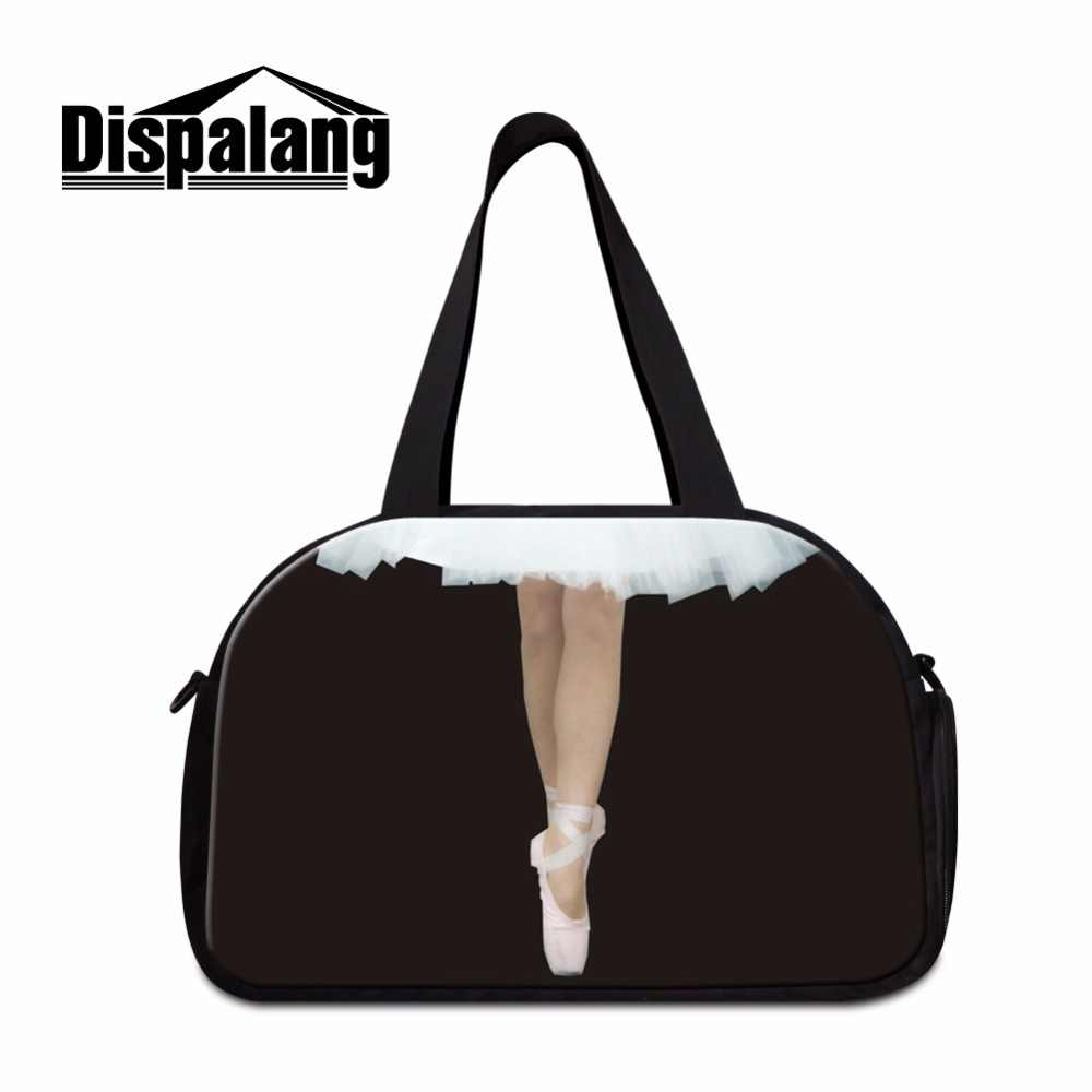 Dispalang Ballet Girl Print Travel Bag for Women Art Desinger Shoulder Duffle Bags Girly Brand Travel Pouch Bag Handbags Ladies