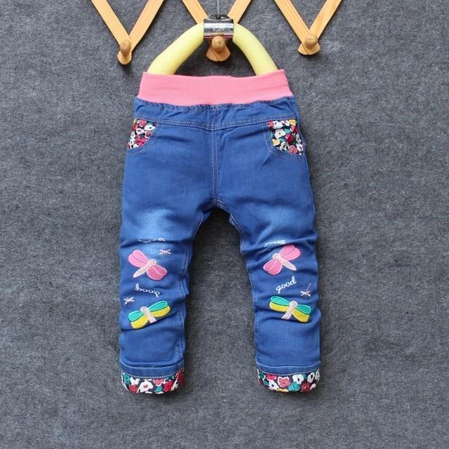 12507dfdb € 9.94 |BibiCola Niñas Pantalones Vaqueros Nuevos Pantalones Vaqueros  Casuales Para Niñas Otoño Del Resorte del Dril de Algodón Pantalones Del ...