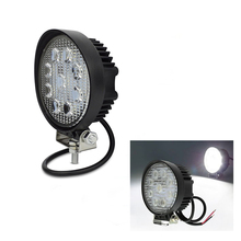 ECAHAYAKU 4pcs 27w led work light 12V Spot flood 4x4 offroad Car Truck Led working lights round 24v lamp ATV Tractors