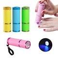 1 unid Mini 9 LED Mini lámpara de uñas de gel UV 9 W LLEVÓ La Luz Linterna lámpara de Curado de Secado Rápido Secador de Uñas de Gel UV & Nail polaco