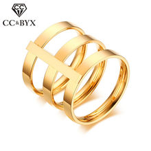 CC Trendy Jewelry Rings For Women And Men Stainless Steel Personality Index Finger Big Luxury Ringen Accessories CC1285a(China)